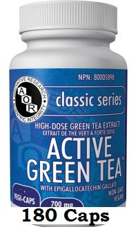 Active Green Tea (180 Capsules) EGCG MAX 700mg Brand: A.O.R Advanced Orthomolecular Research