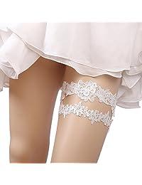 1 Pair Ivory Vintage Bridal Garter Lace Wedding Garters for Bride