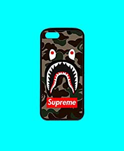SUPREME SHARK FACE BAPE BUMPER PHONE CASE IPHONE 5/5S