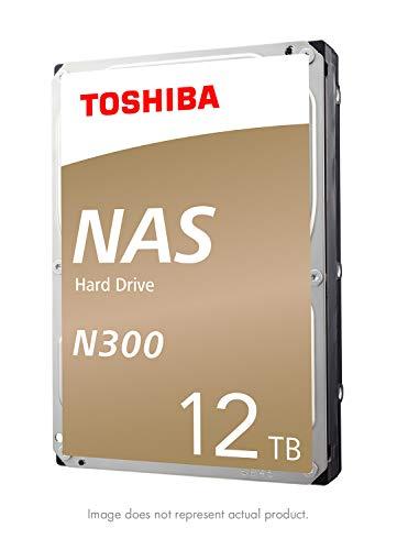 Toshiba N300 12TB NAS Internal Hard Drive 7200 RPM SATA 6Gb/s 256 MB Cache 3.5inch - HDWG21CXZSTA