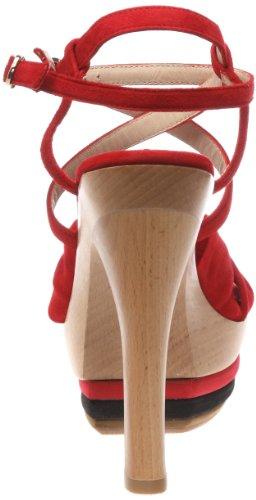 Colori C20006 C20006 - Sandalias de ante para mujer Rojo