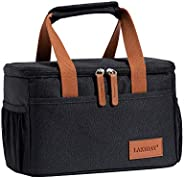 LAKIDAY Insulated Lunch Bag for Women/Kids Cooler Bag Lunch Tote Box Container Leakproof for WorkOutdoor(Black