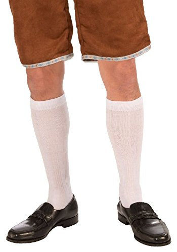 Forum Novelties 72037 Male Knee Socks, White, One Size fits Most, Pack of 1 ()