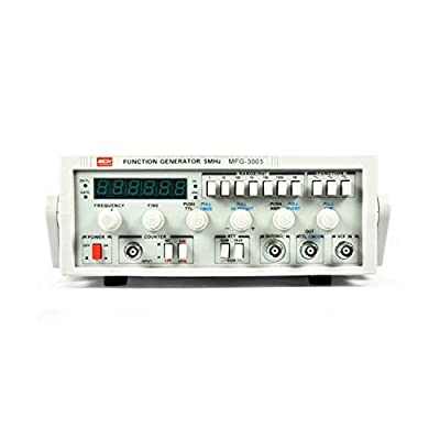 Low Frequency Function Signal Generator MFG-3005 5MHz Signal Source with 30M Frequency Meter (Size : 110V)