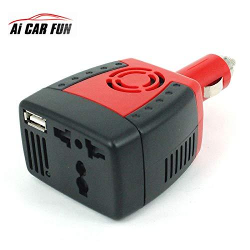 Loldis - 150W 2100mA Car Inverter USB Power Supply DC 12 V - AC 220 V Converter Transformer Laptop Mobile Phone Charger Universal ()