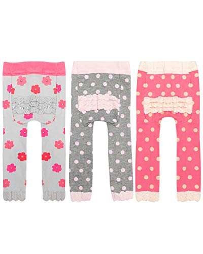 Wrapables Baby & Toddler Fun for All Leggings (Set of 3), Dots & -