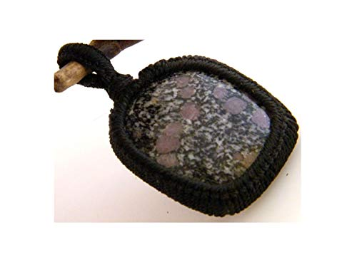 Thebestjewellery Brazilian Pink Agate cabochon Macrame Pendant, Boho Pendant, Macrame Jewelry, Gemstone Pendant, Handmade Macrame Pendant LA-3937