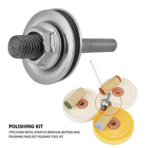 Polishing Pads Set, 7Pcs Hard Metal Scratch Removal Buffing Polishing Pads Set Polisher Tool Kit by Greensen (Image #4)