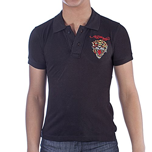 Ed Hardy Kids Tiger Polo Shirt - Black - ()