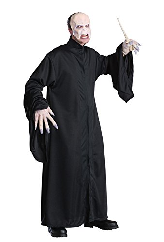 Harry Potter Movie Costumes (Harry Potter Adult Voldemort Robe, Black, One Size)