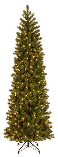 National Tree 6.5 Foot Downswept Douglas Fir Pencil Slim Tree (Artificial Pencil Tree Christmas)