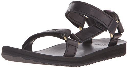 Teva W Original Universal Crafted Leather, Sandalias para Mujer Negro (Black Blk)