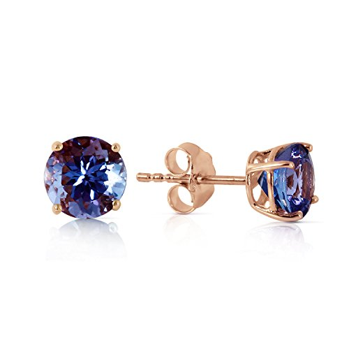 - 0.95 Carat 14k Solid Rose Gold Tanzanite Stud Earrings