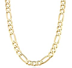 Miabella brings you the finest in modern and classic design. Make a cool statement with this bold 925 sterling silver 11mm Figaro link chain. A rich style ready to be worn with absolutely everything. Made in Italy
