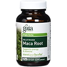 Gaia Herbs Gelatinized Maca Root, Vegan Powder Capsules, 60 Count - Adaptogenic Peruvian Andes SuperFood, Supports Energy, Stamina and Promotes Emotional Well-Being