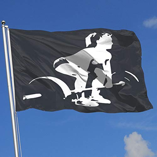 TAOHJS76 Custom Outdoor/Indoor Garden Flag Crossfit Girl 100% Polyester Single Layer Translucent Flags 3 X 5]()