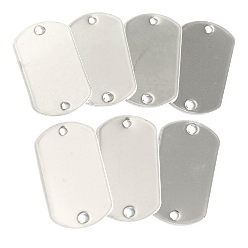 100pcs Blank 2-hole Stainless Steel Military Spec Shiny Finish Rolled Edge Backing by OnDepot.com