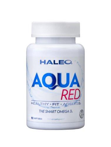 Huile de Krill, 500 mg par portion, super concentré en oméga-3 d'huile de poisson, Aqua Rouge, 90 gélules
