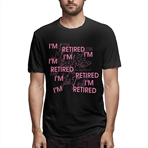I'm Retired Retirement Partie Great Gift Men's Printing All-Match Black Early Retirement,Non Stop Jersey XL (Monthly Retirement Planning Worksheet Chapter 8 Answers)