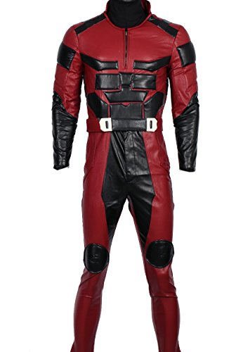 [XCOSER DD Matt Costume Outfit for Adult Halloween Superhero Cosplay XXL] (Daredevil Costumes Replica)
