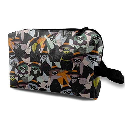 Lvxinghzd Halloween Witches Travel Makeup Cosmetic Pouch Makeup Travel Bag Purse for Women Or Girls ()