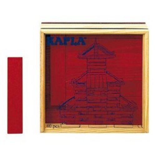 - Kapla 40 pc Red Color Square in Wooden Box