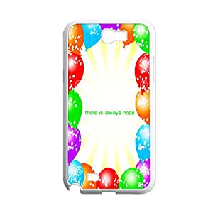 Abs Phone Case For Girly Custom Design With Colorful Ballon For Galaxy N7100 Choose Design 1