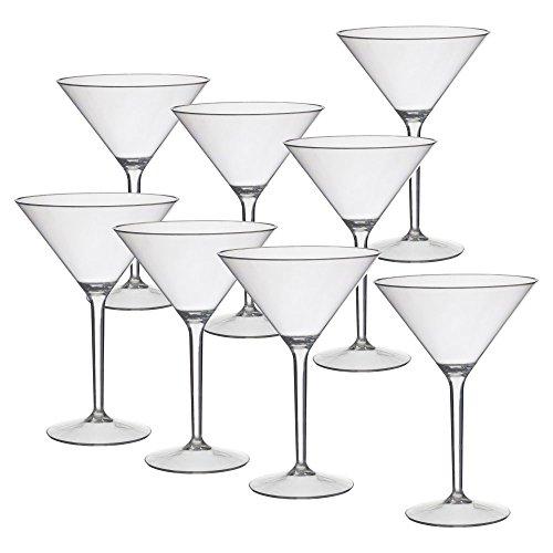 CreativeWare Acrylic 9.75 oz. Martini Glass - Set of 8