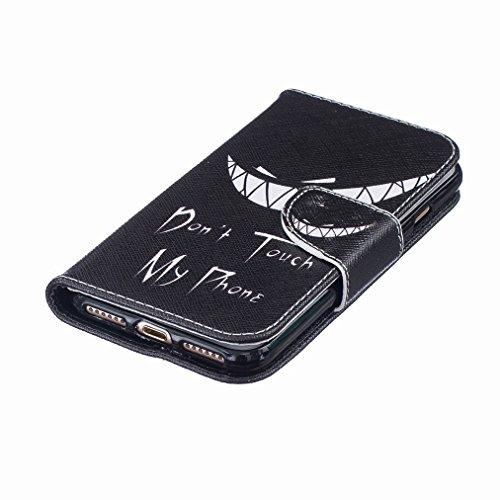 Custodia Apple iphone 7 Cover Case, Ougger Portafoglio PU Pelle Magnetico Stand Morbido Silicone Flip Bumper Protettivo Gomma Shell Borsa Custodie con Slot per Schede Moda Style 12