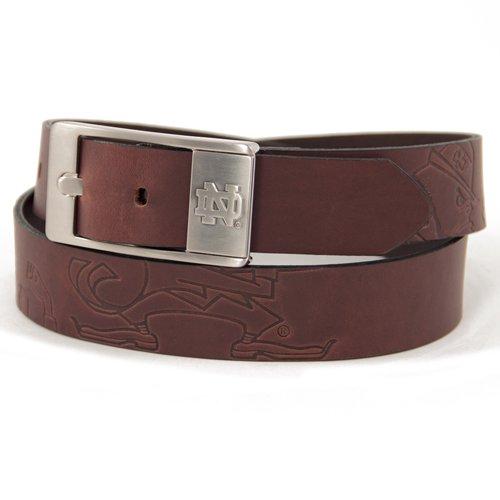 Notre Dame Fighting Irish Leather Brandish Brown Belt