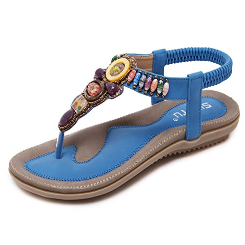 Fanessy Women's Fashion Sandals Blue ImbqHVR6