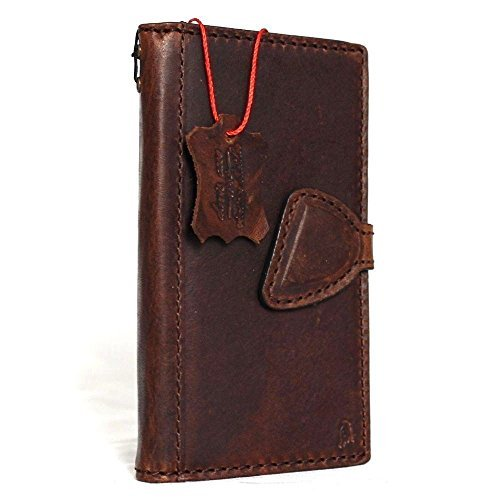 Price comparison product image Genuine natural real Leather Case for Samsung Galaxy S8 plus Book Wallet Luxury Cover S Handmade Retro Id s 8 brown chocolate