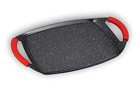 Mws RL-TG47M Plancha en pierre de lave 47 cm pour plaque à induction Anti-adhérente Ne raye pas MWS.