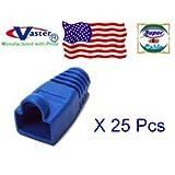 25 Pcs / Pack, RJ45 Modular Snagless Plug Boot - BLUE