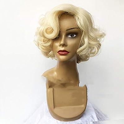 Marilyn Monroe peluca dorada hembra peluca rizada corta peluca ...