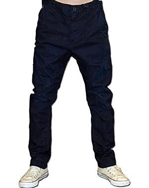 G-Star Men's Bristum Men's Dark Blue Chino Pants Blue