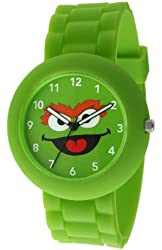 Sesame Street SW612OS Oscar the Grouch Green Rubber Watch