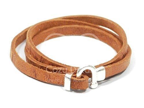 women rustic leather bracelet, brown horseshoe bracelet, triple wrap bracelet, equestrian bracelet, horseshoe jewelry, gifts for women, FREE SHIPPING