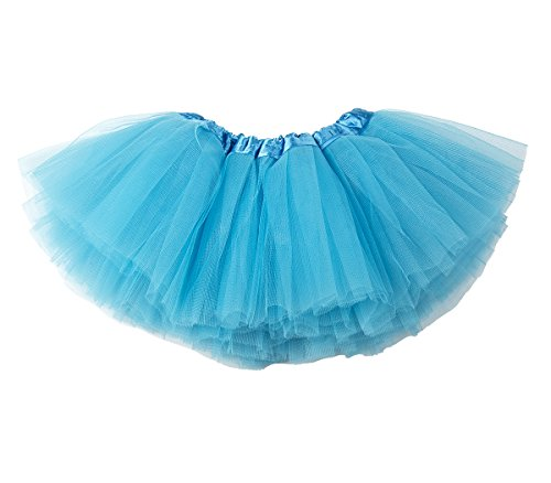 belababy 24 Months Baby Girls Tutu Skirt 5 Layers Tulle, Blue