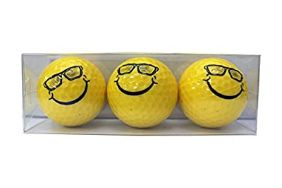 Smiley Sunglasses Novelty Golf Balls