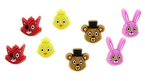 [Five Nights At Freddy's Characters Earring Set] (Five Nights At Freddys Costume Mangle)