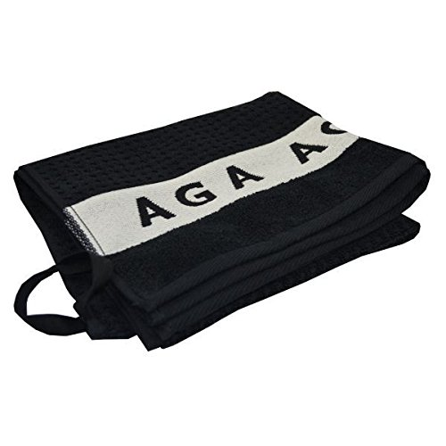 Attractive Kitchen Black Aga Handtowel (Pack of 6) by AGA