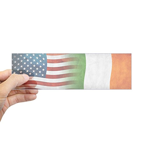 CafePress Irish American Flags Bumper Sticker 10