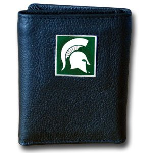 Siskiyou NCAA Michigan State Spartans Deluxe Leather Tri-fold Wallet