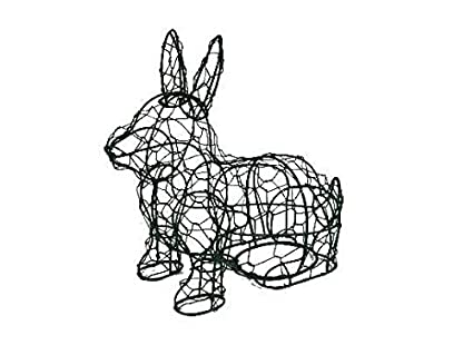 Amazon.com: Sitting Bunny 14 Inches High Topiary Frame , Handmade ...
