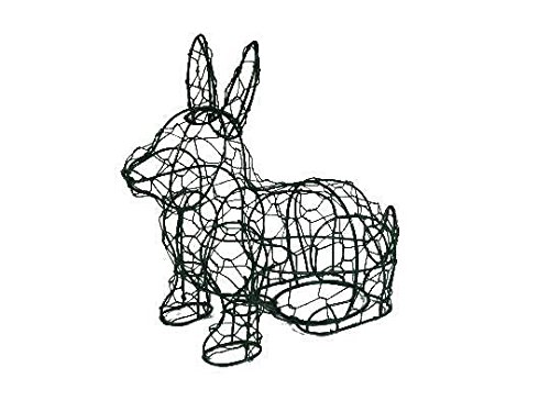Sitting Bunny 14 Inches High Topiary Frame , Handmade Animal Decoration (frame, 14''H)