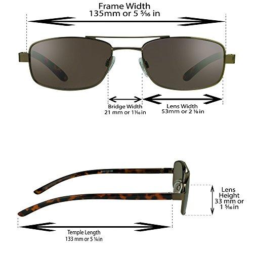 a6dbcba08c7e Jual Pilot Square Aviator Reading Glasses Tinted Full Lens Sun ...