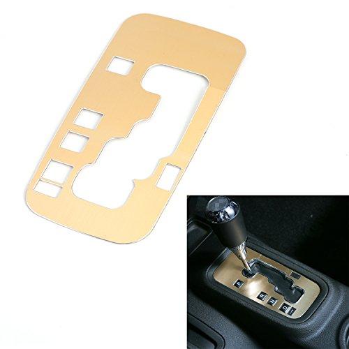 Aluminium Knob (RT-TCZ Aluminium Gear Shift Knobs Cover Trim for Jeep Wrangler JK 2011-2017 4 door (Gold))