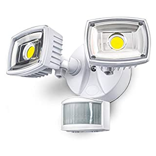 Home Zone Security Motion Sensor Light - Outdoor Weatherproof Ultra Bright 5000K LED Flood Lights (1 Set)