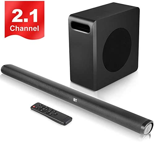 SPARKWAV 140 Watts Sound Bar with Wireless 8 Subwoofer,Bluetooth 5.0 Soundbar for TV,Support HDMI Optical USB AUX RCA Input,Fit for TV PC Phone Tablet Projector Home Theater